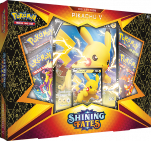 Shining Fates Collection featuring a jumbo Pikachu V from the set