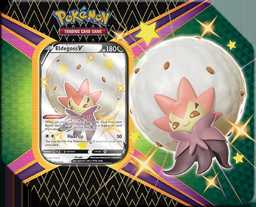 Pokémon TCG Tin from Shining Fates with Shiny Eldegoss