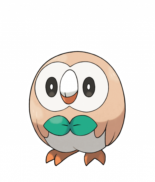 Official artwork of Rowlet
