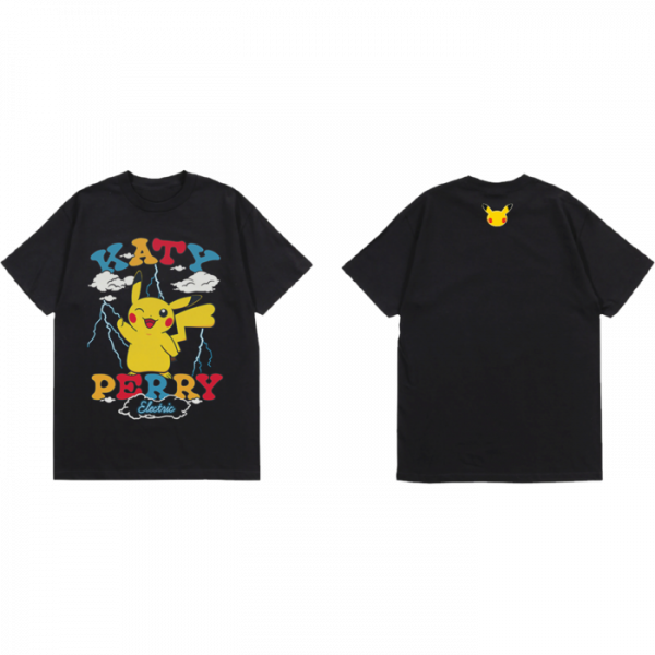 Katy Perry Electric T-Shirt with female Pikachu on the front