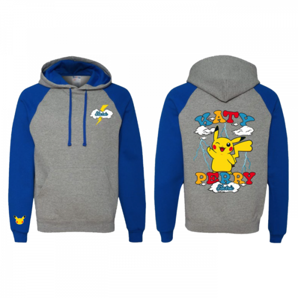 Katy Perry Electric Sweatshirt with hoodie and with female Pikachu on the back