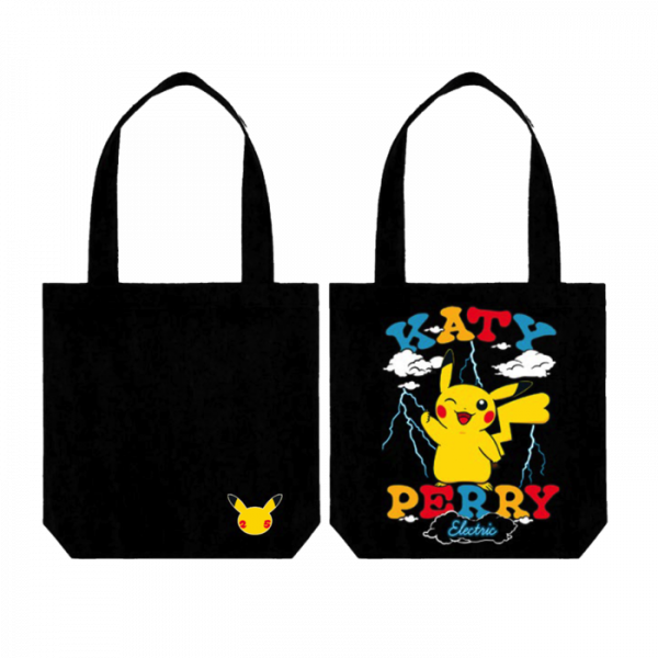 Katy Perry Electric tote bag with female Pikachu on it