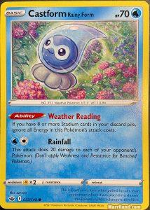 Castform Rainy Form card