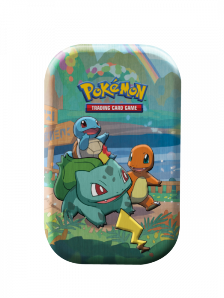 Mini Tin with Bulbasaur, Charmander, and Squirtle