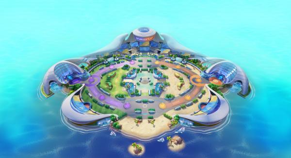 Aeos Island and the Battle Stadium