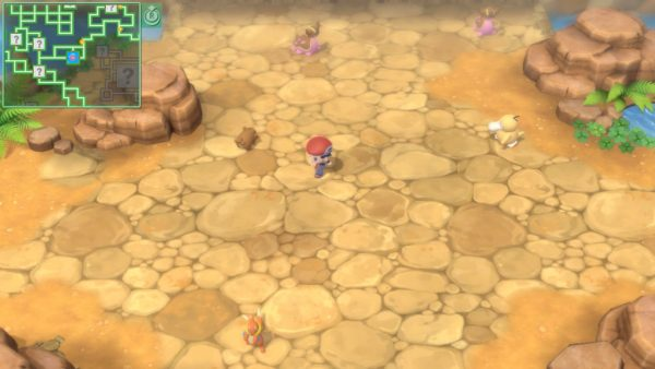 Player running in a wasteland area