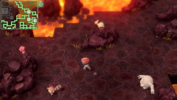 Fiery underground cave