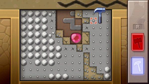 Smashing rocks in the Underground