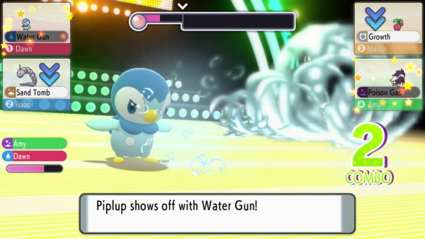 Piplup in Contest using Water Gun