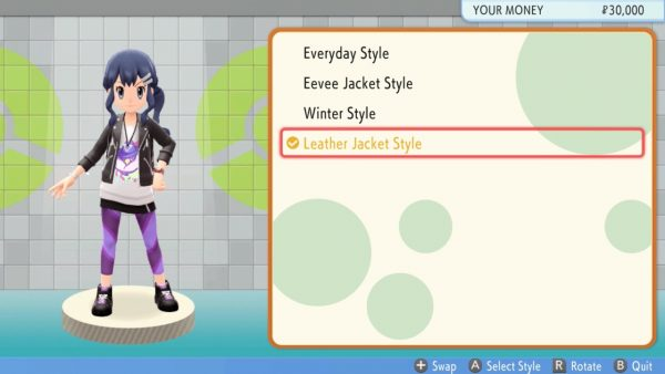 Clothing options for Dawn