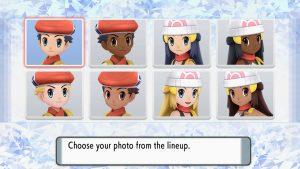 Choosing skin tone and player look