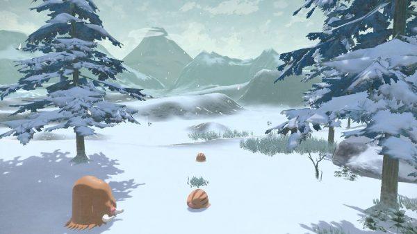 Wintery scenery with Swinub and Piloswine