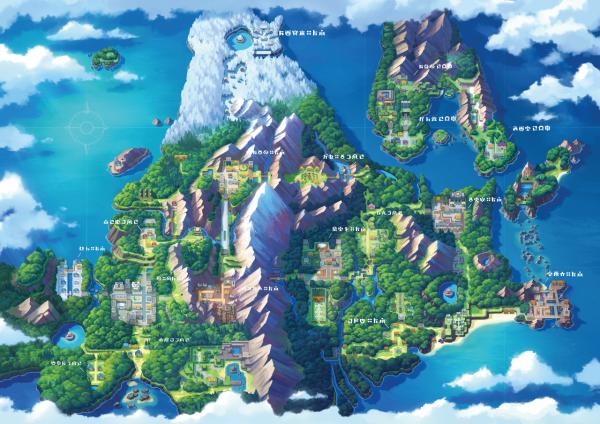 Map of the Sinnoh Region