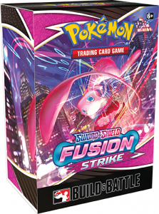 Fusion Strike Build & Battle Box with Mew on it