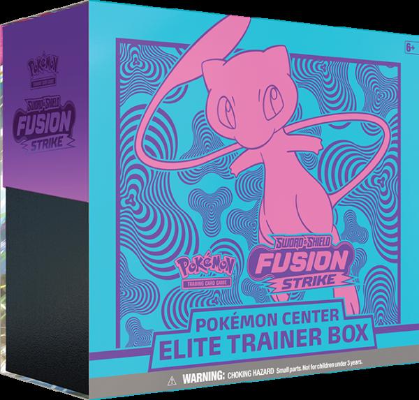Pokémon Center Elite Trainer Box, featuring Mew