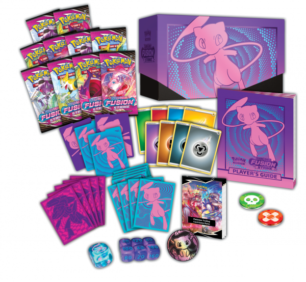 Contents of the Pokémon Center Elite Trainer Box, described below