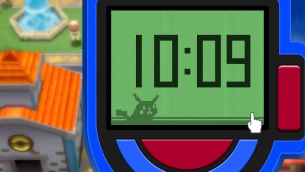 Pokétch clock saying 10:09