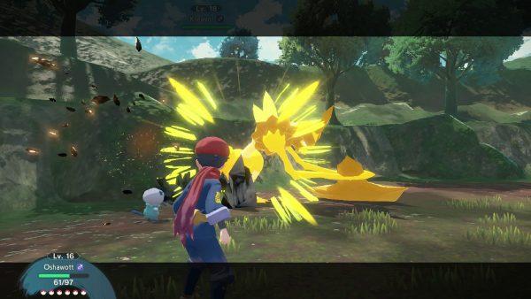 Player using an Oshawott against Kleavor
