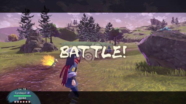 Battle start against Mai's Munchlax