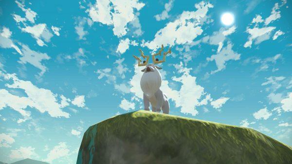 Wyrdeer on top of a cliff
