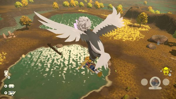 Flying with Hisuian Braviary looking at the ground