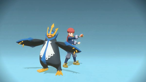 Photo with player and Empoleon posing