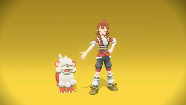 Photo with player and Hisuian Growlithe posing