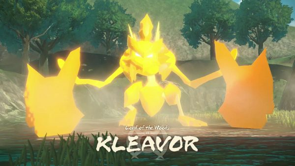 Kleavor with the text Lord of the Woods KLEAVOR on screen
