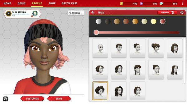 Close up of avatar and hairstyles