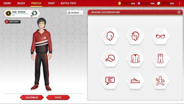 Avatar customization options