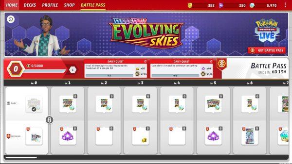 Battle Pass main screen