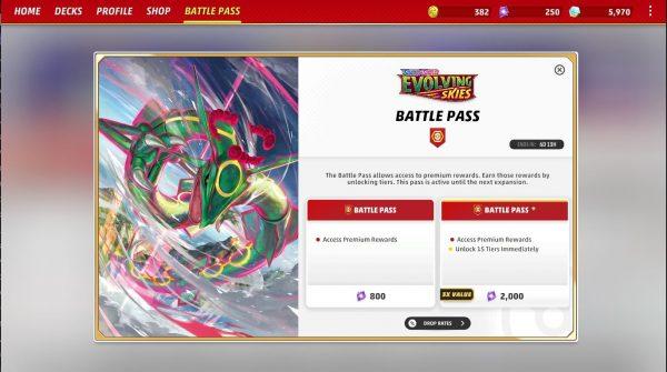 Battle Pass screen 1