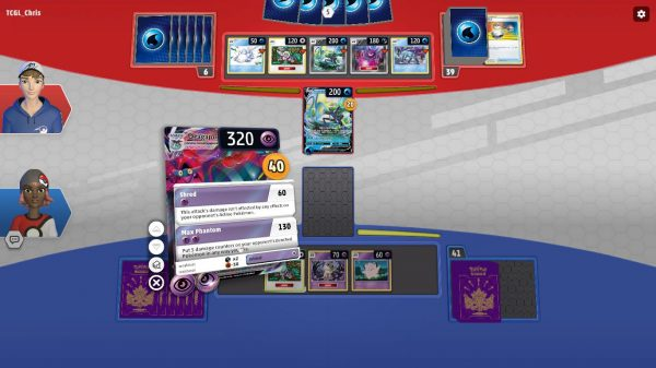 Showing details of cards during gameplay