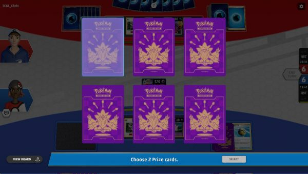 Choosing a prize card to claim