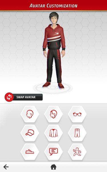 Avatar customization on mobile