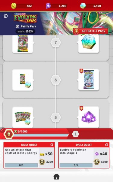 Battle Pass rewards on mobile