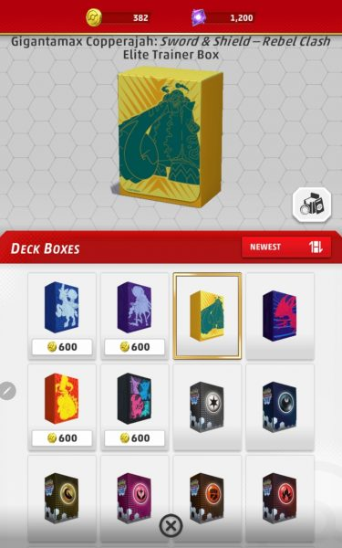 Deck boxes on mobile