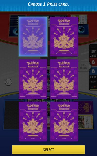 Choosing a prize card on mobile, but it's arranged in a 2x3 grid which is cool