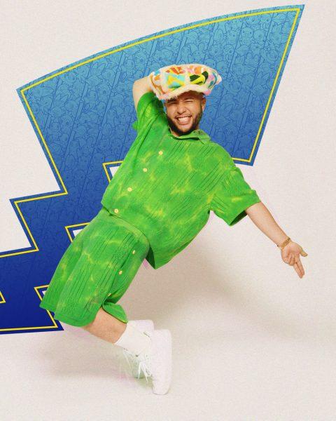 Jax Jones wearing green and posing