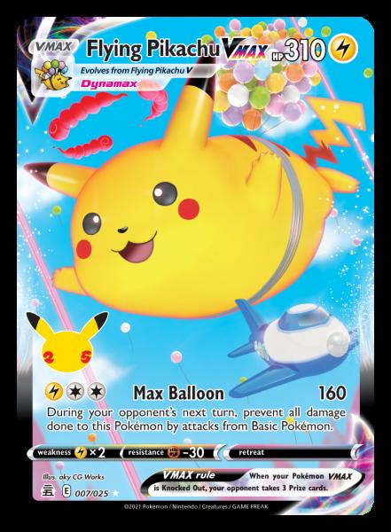 Flying Pikachu VMAX Card
