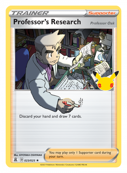 Professor's Research Card with Professor Oak