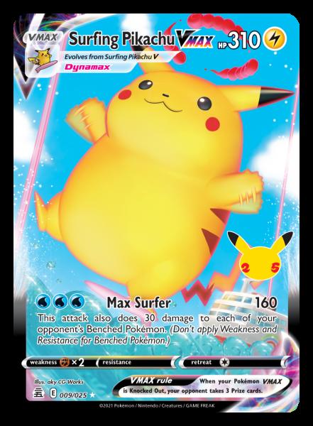 Surfing Pikachu VMAX Card