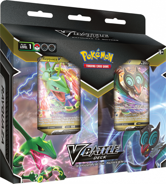 V Battle Deck Double Pack with both Rayquaza V and Noivern V decks